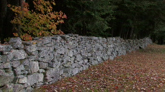 Stone Fence Stock Footage