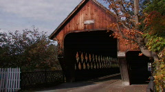 Covered Bridge Stock Footage