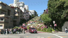 Lombard Street in San Francisco California Stock Footage