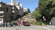 Lombard Street in San Francisco California Stock Footage