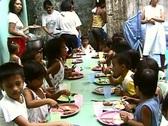 Stock Video Footage of Poor Children Eating