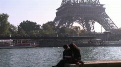 Romance in Paris Stock Footage