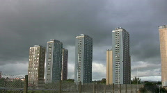 Glasgow Red Road Flats 1080 01 - stock footage