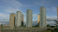 Glasgow Red Road Flats 1080 02 Stock Footage
