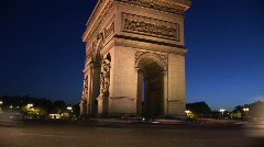 French Landmark Stock Footage