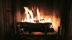 Fireplace with Fire Stock Footage