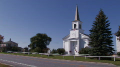 Country Church Stock Footage