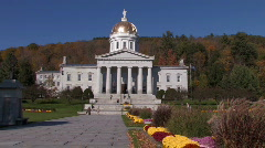 Vermont State Capital Building - stock footage