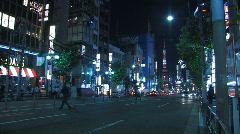 Roppongi Dori during Night in Tokyo, Japan Stock Footage