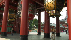 Stock Video Footage of Hozomon gate, Sensoji Temple in Asakusa in Tokyo, Japan