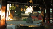 Purifying Water outside a Shrine in Asakusa, Tokyo Stock Footage