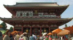 Hozomon, Sensoji Temple in Asakusa in Tokyo, Japan Stock Footage