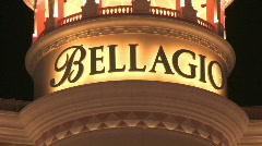 Bellagio Casino Hotel Las Vegas zoom out Stock Footage