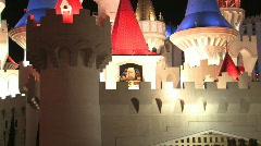Excalibur Hotel Casino Las Vegas Stock Footage