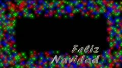 Stinger-Feliz Navidad - Spanish Stock Footage