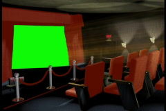 Home Theater Green Screen Stock Footage