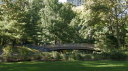 Stock Video Footage of New York City: A foot bridge in Central Park