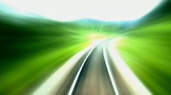 Railroad turning right 14s Stock Footage