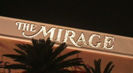 Stock Video Footage of Mirage Hotel Casino Las Vegas