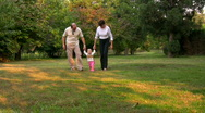 Happy family in the park 2 Stock Footage