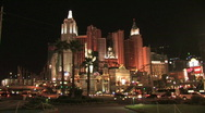 New York, New York in Las Vegas during night Stock Footage
