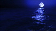 Stock Video Footage of 1030 Blue Moon Lunar Eclipse Ocean Waves Travel Cruise