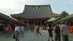 Sensoji Temple in Asakusa in Tokyo, Japan Stock Footage