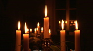 Stock Video Footage of HD1080i Candles & Candlestick