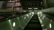 Westminster escalator 2 Stock Footage