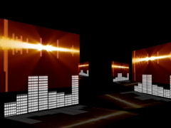 3D SOUNDLEVELS NTSC - stock footage