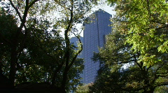 New York City: Trees Glass and Steel Stock Footage