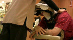 Airport massage Stock Footage