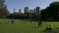 New York City: Walking in the Park Stock Footage