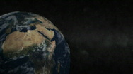 Earth and Moon 2 Stock Footage