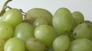 Fresh White grapes rotating Stock Footage