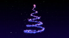 Christmas - Particle Christmas Tree Stock Footage