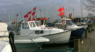 Stock Video Footage of Moored fishing boats