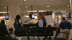 Going through airport security - stock footage