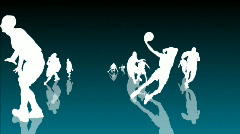 Basketball Animation 3 - stock footage
