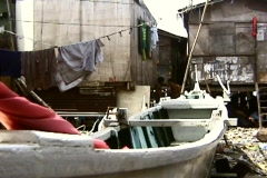 Poor fishing community Stock Footage