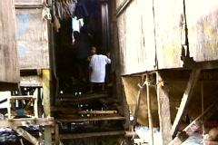 Poor people Homes In Slum Stock Footage