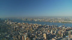 Pan shot nice morning over manhattan Stock Footage