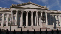 Washington, DC: The Department of Treasury  Stock Footage