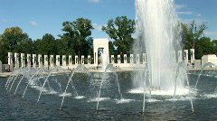 WWII monument 2 Stock Footage
