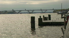 Potomac river bridge Stock Footage