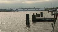 Potomac river bridge Stock Footage