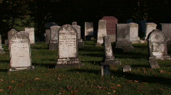 Vermont: Old Cemetery  Stock Footage