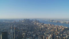 pan shot manhattan - stock footage