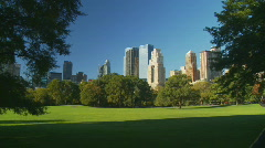 pan shot light and shadow central park part II - stock footage