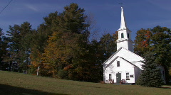 New Hampshire: Church in Marlow - stock footage